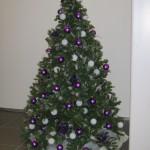 Kerstboom in showroom autodealer