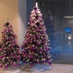 Kerstversiering in de hal van een groot kantoor (1)